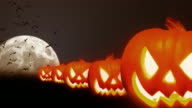Halloween Theme With Bats and Pumpkins HD video