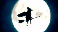 4K Halloween Witch Animation video