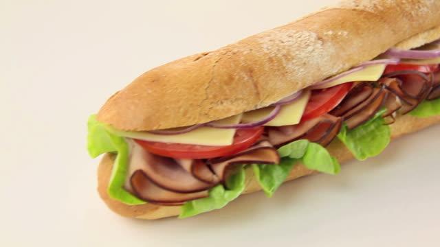 Ham And Salad Sub video