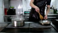 Ham Cooking In a Frying Pan video
