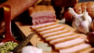 Ham. Meat, Beef Products composition. video