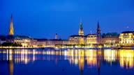 Hamburg by night - Time Lapse video