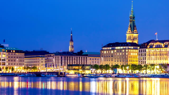 Hamburg by night video