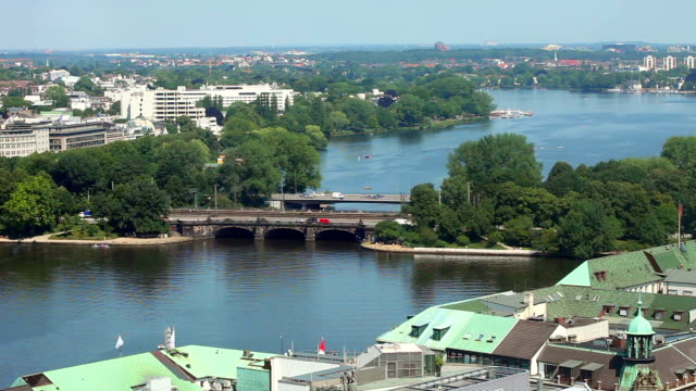 Hamburg, Germany / Binnenalster - time lapse video
