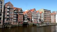 Hamburg - half timbered house front video