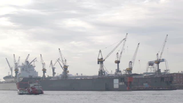 Hamburg harbour. video