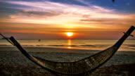 Hammock and sunset video