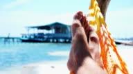 Hammock on the Beach video