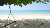 Hammock swing on the beach video