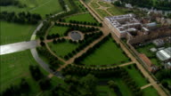 Hampton Court  - Aerial View - England, Greater London, Richmond upon Thames, United Kingdom video