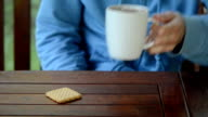 hand coffee cup drink video