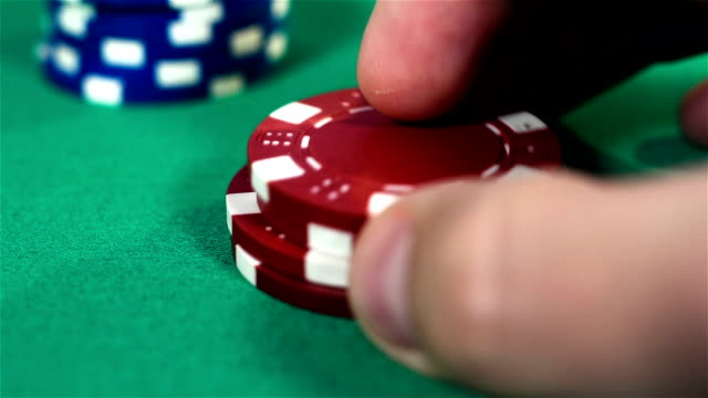 Hand Collects Poker Chips video