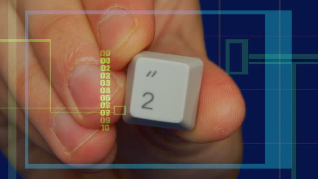 Hand Computer Keyboard Numbers video