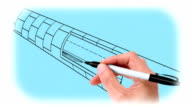 Hand Drawing Underwater Tunnel video