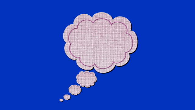 Hand drawn think bubble animation with empty space video