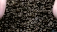 Hand holding coffee - Slow motion video