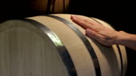 Hand irons oak wine barrels in the workshop video