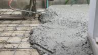 hand of builder worker plastering at floor video
