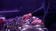 hand of Dj Decks / Turntable at Disco Party Nightclub video