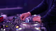 Hand of Dj Decks / Turntable at Disco Party Nightclub video
