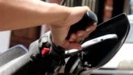 Hand On Motorcycle Throttle video