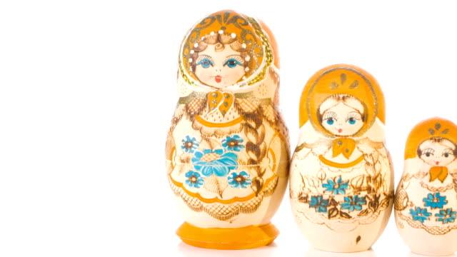 Hand painted Russian Matryoshka dolls video