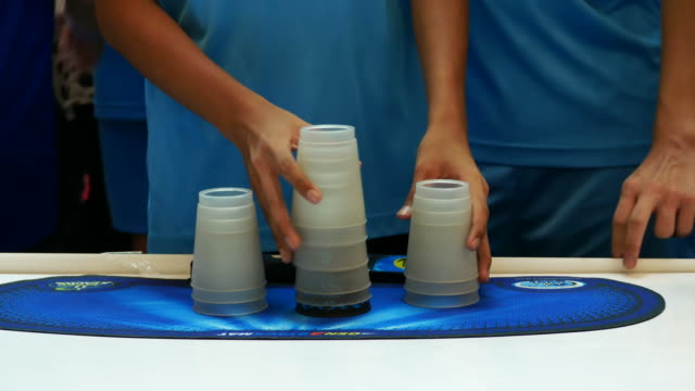 hand play stack cup video