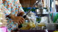 hand press machine for make orange juice video