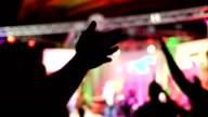 Hand raised at worship, silhouette (sing singing) video