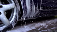 SLOW MOTION: Hand washing a car video