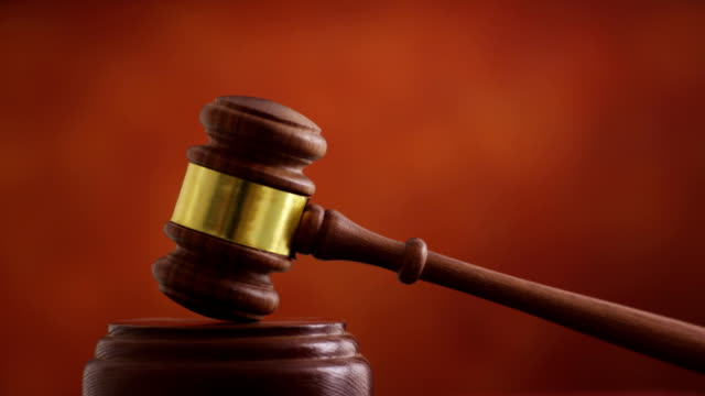 Hand with gavel video