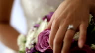 Hand with wedding ring video