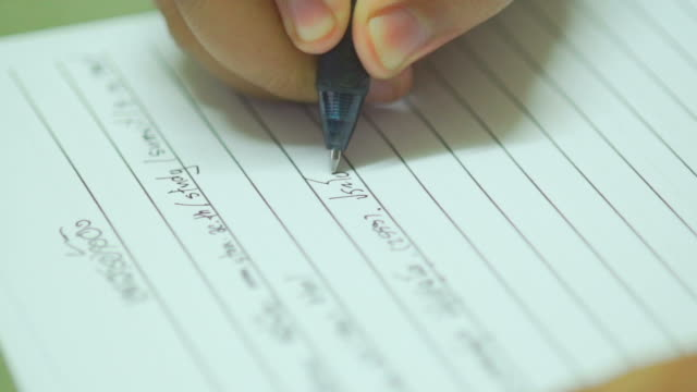 Hand Writing Slow Motion video