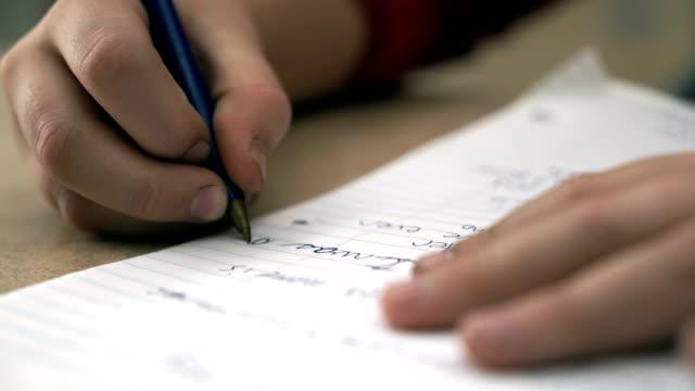 Hand Writing video