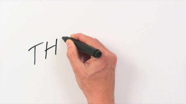 Hand Writing Word The End video
