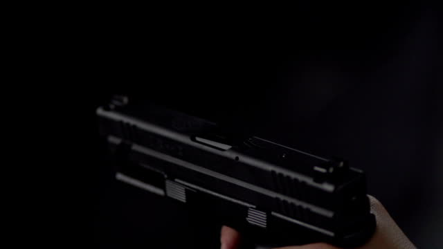 Handgun Fire in Slow Motion video