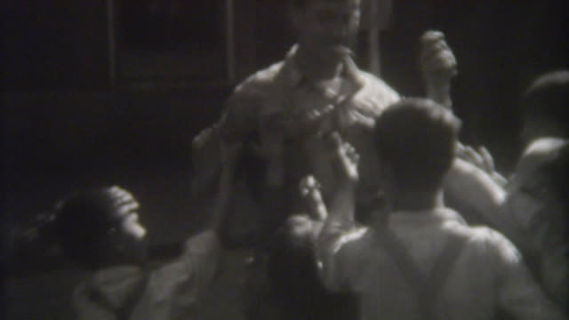 Handing out candy in Austria 1944 video