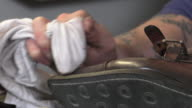 handmade coloring and care of footwear video