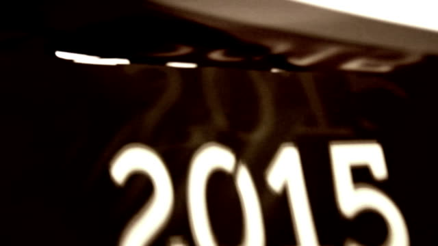 Handmade New year 2015 paper stencil video