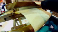 Handmade weaving video