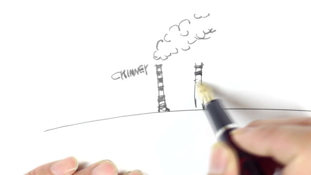 Hand-painted contaminated earth video