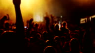 Hands and Heads of Spectators at a Concert video
