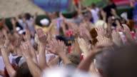 Mains de sport de compétition public - Vidéo