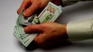 Hands Calculate Money video