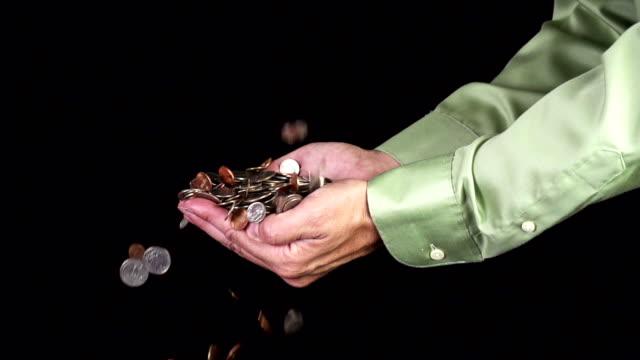Hands Catching Money video