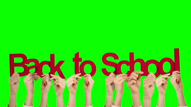 Hands holding up back to school video