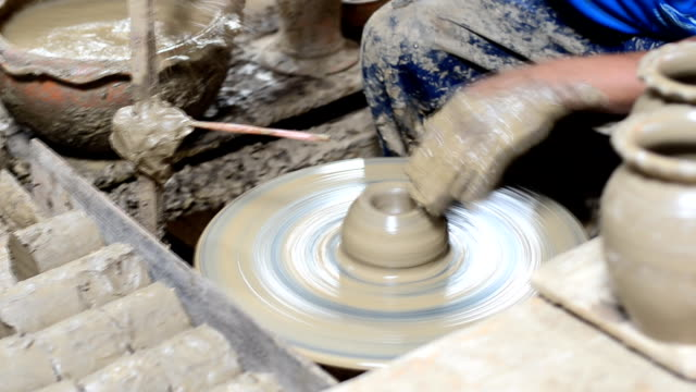 Hands Making Pottery video