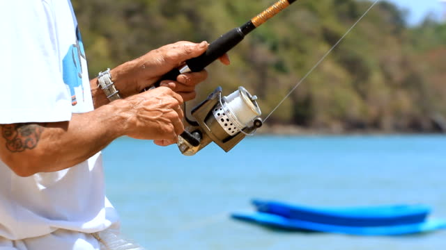 Hands on fishing rod video