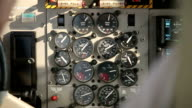 Hands pilots run gadgets of seaplane video