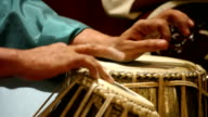 Hands Playing Tabla: India video